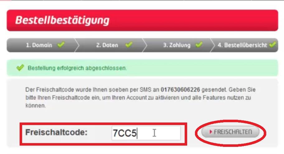 11. Freischalte Code