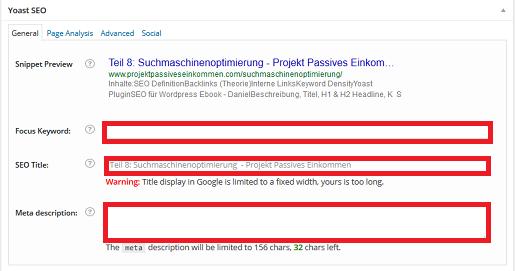 Suchmaschinenoptimierung WordPress