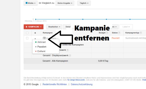 GoogleKampagneentfernen