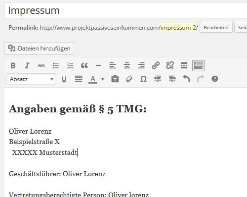 Wordpress Impressum erstellen – Ultimative Anleitung