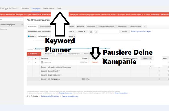 KeywordPlannerKampagne